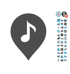 Music marker icon with free bonus vector