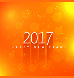 orange background with 2017 text style effect vector image