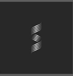 ornamental letter s logo monogram overlapping vector image