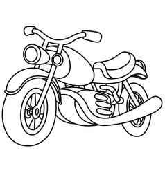 outlined motorcycle vector image