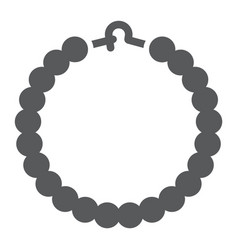 Pearls bracelet glyph icon jewelry and accessory vector