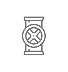 pipe connector water valve line icon vector image