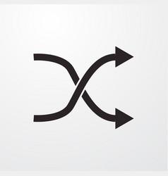 Random switch sign icon flat design style vector