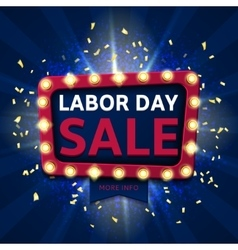 Retro label for labor day sale vector