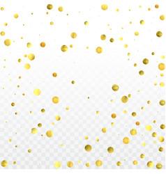 Round gold confetti vector