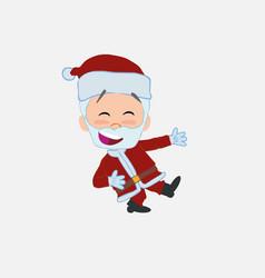 Santa claus laughing while teaching something to vector