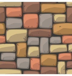 Seamless cartoon stone texture vector image
