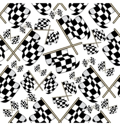 Seamless pattern of motor racing flags vector image