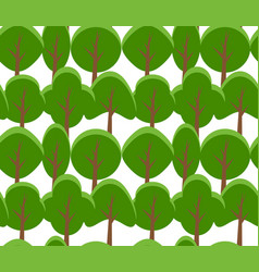 seamless texture of cartoon flat tree on white vector image