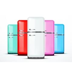 Set of Fridge refrigerator isolated on vector