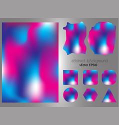 set of gradient mesh color background modern vector image