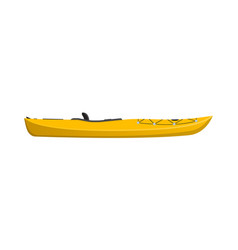 side view yellow travel kayak isolated icon vector image