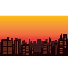 Silhouette of city colorful vector