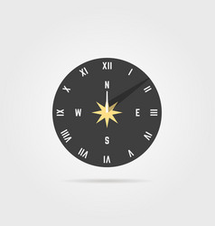 simple sundial icon with shadow vector image