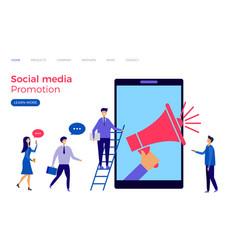 Social media promotion landing page vector
