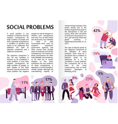 Social problems infographics vector