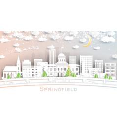 Springfield illinois usa city skyline in paper vector