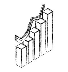statistics bars growing 3d vector image