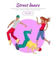 Street Dance Concept Flat Style Web Banner vector