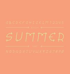 summer font alphabet vector image