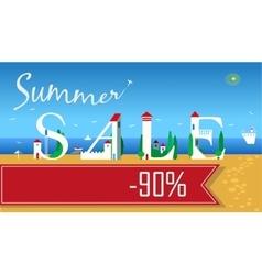 Summer Sale Ninety percents vector