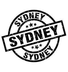 Sydney black round grunge stamp vector
