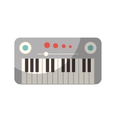 synthesizer device isolated icon vector image