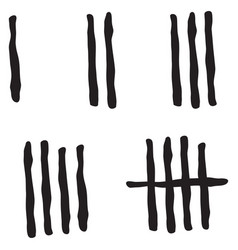 Tally marks count vector