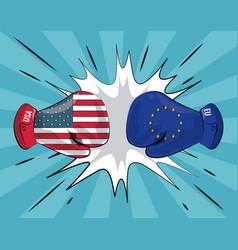 Trade war concept vector