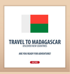 travel to madagascar discover and explore new vector image
