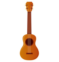 Ukulele on white background vector