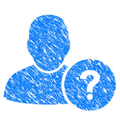 User question grunge icon vector