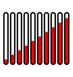 Vertical progress loading bars progress vector