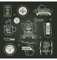 Vintage retro Restaurant Cafe logo Design vector image