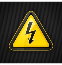 Voltage warning sign vector