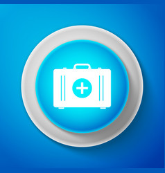 white first aid kit icon medical box with cross vector image