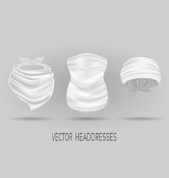 white head bandanas neck scarf and buff vector image