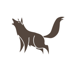 wolf howling cartoon graphic vector image