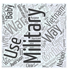 An Aversion to War Word Cloud Concept vector image vector image