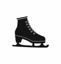 Figured skate icon black simple style vector image