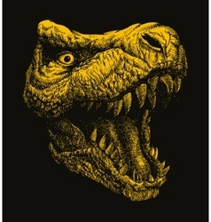 Trex Hand drawn vector image