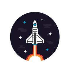 464rocket launch vector image