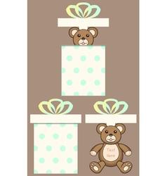 Bear in present box vector image vector image