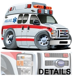 Cartoon Ambulance Car vector image vector image