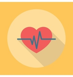 Heartbeat Icon Flat vector image vector image