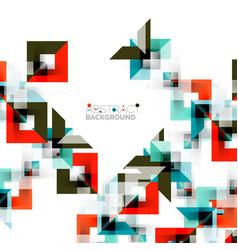 Modern square geometric pattern design on white vector