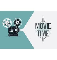 Movie projector banner vector