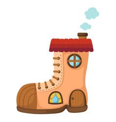 shoe house vector image