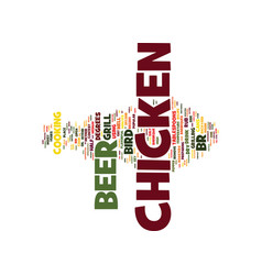 the almighty beer can chicken text background vector image vector image