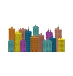 Urban city view vector image